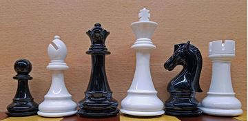 Imagen de Ajedrez Premium Plastico 110mm Blanco y Negro