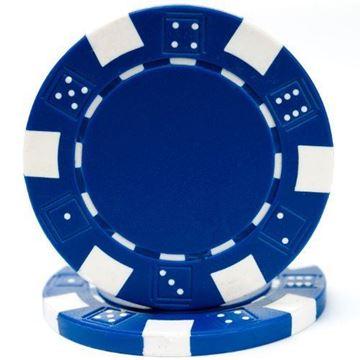 Imagen de Fichas De Poker 11.5 Grs. Sin Valor Azul