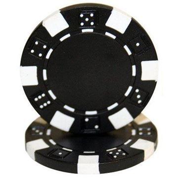Imagen de Fichas De Poker 11.5 Grs. Sin Valor Negro