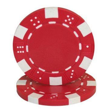 Imagen de Fichas De Poker 11.5 Grs. Sin Valor Roja