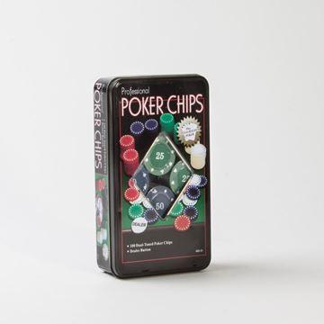 Imagen de Fichero Poker 100 Fichas 4 Gr Caja Metalica