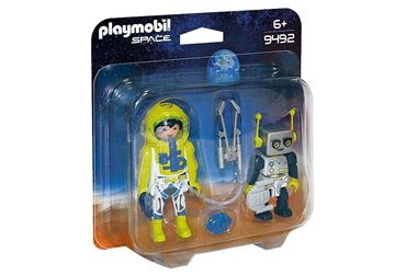 Imagen de PLAYMOBIL 9492 DUO PACK - ASTRONAUTA Y ROBOT