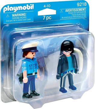 Imagen de PLAYMOBIL 9218 - DUO PACK - POLICIA Y LADRON