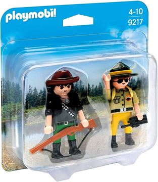 Imagen de PLAYMOBIL 9217 - DUO PACK - GUARDAPARQUE Y CAZADOR FURTIVO