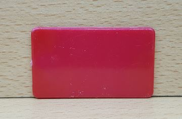 Imagen de Fichas rectangulares 35 x 60mm x 100 Unidades ROJO