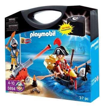 Imagen de Playmobil 5894 - Maleta Piratas Balsa Y Cañon