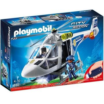 Imagen de Playmobil 6921 - Helicoptero Policia Con Luces Led